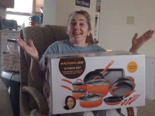 My mother gets even more excited about her new pots (thank you, Black Friday).