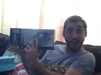 Greg, my brother who has Crohn's, gets excited over his new iron.